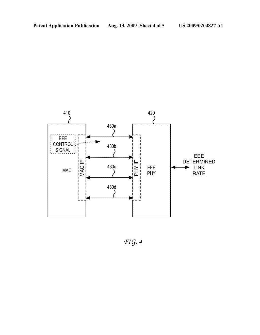 SYSTEM AND METHOD FOR ENERGY SAVINGS ON A PHY/MAC INTERFACE FOR ENERGY EFFICIENT ETHERNET - diagram, schematic, and image 05