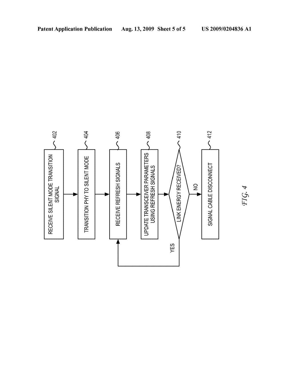 SYSTEM AND METHOD FOR USING A LINK ENERGY SIGNAL IN A PHYSICAL LAYER DEVICE HAVING A SILENT CHANNEL/INTERFACE IN ENERGY EFFICIENT ETHERNET - diagram, schematic, and image 06