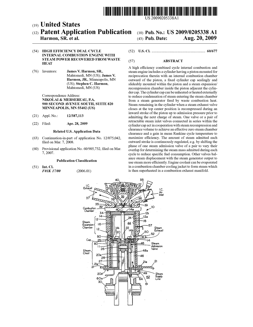 High Efficiency Dual Cycle Internal Combustion Engine With Steam Heat Diagram Power Recovered From Waste Schematic And Image 01