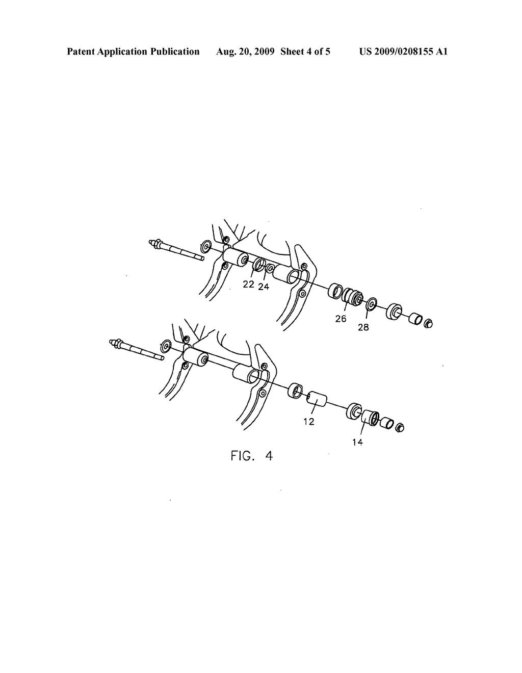 Swingarm bushing stabilizer for harley-davidson - diagram