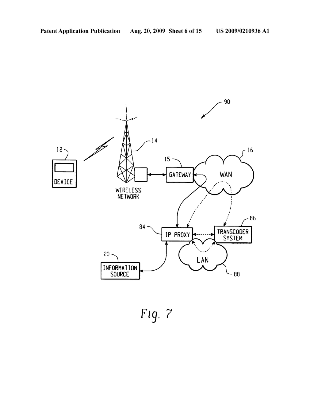 SYSTEM AND METHOD FOR PROVIDING REMOTE DATA ACCESS FOR A MOBILE COMMUNICATION DEVICE - diagram, schematic, and image 07