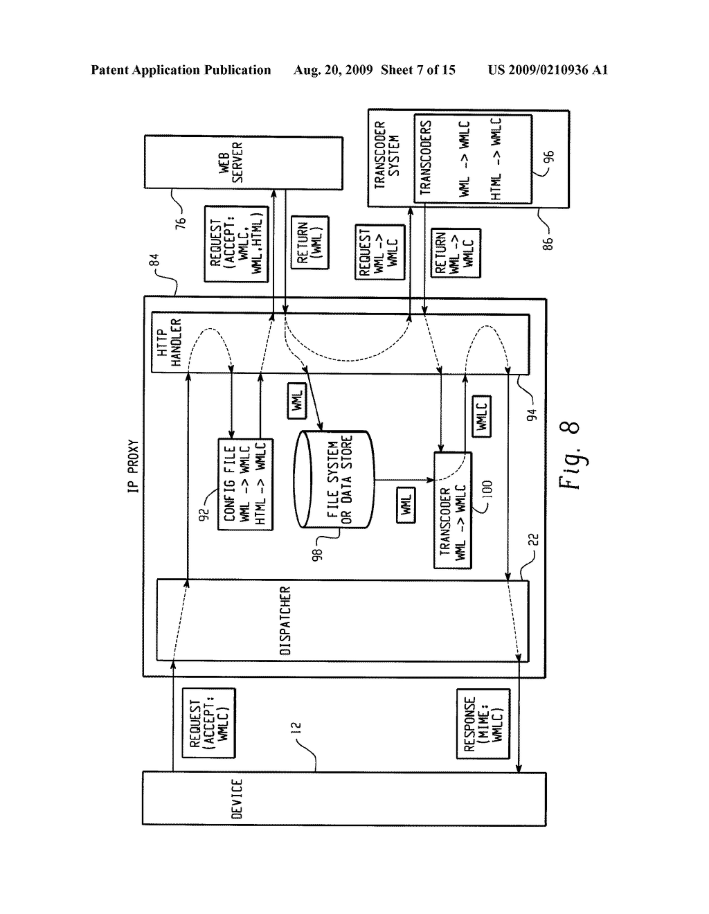 SYSTEM AND METHOD FOR PROVIDING REMOTE DATA ACCESS FOR A MOBILE COMMUNICATION DEVICE - diagram, schematic, and image 08