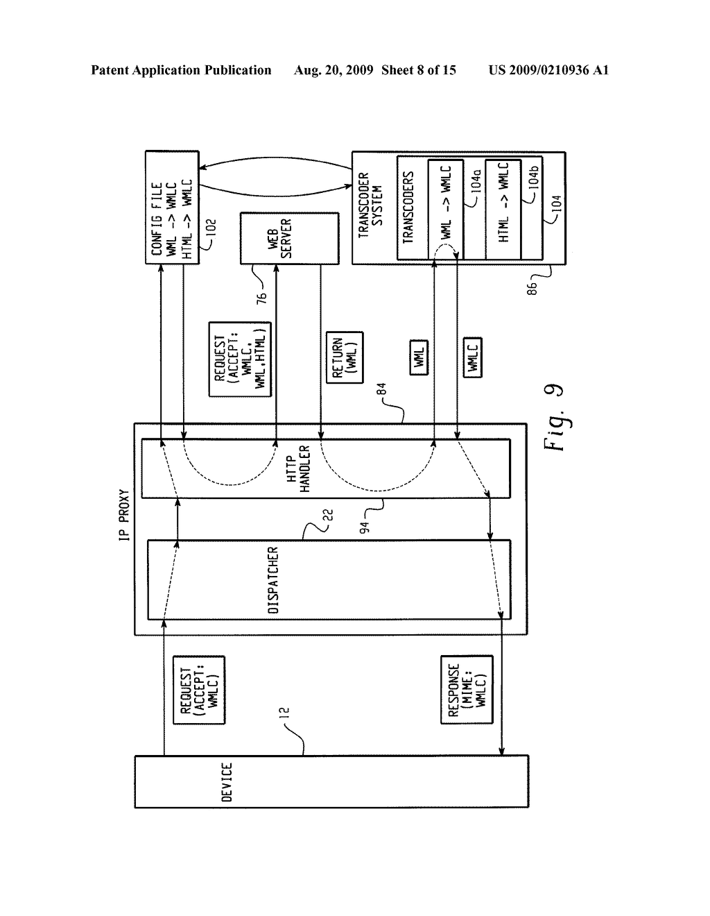 SYSTEM AND METHOD FOR PROVIDING REMOTE DATA ACCESS FOR A MOBILE COMMUNICATION DEVICE - diagram, schematic, and image 09
