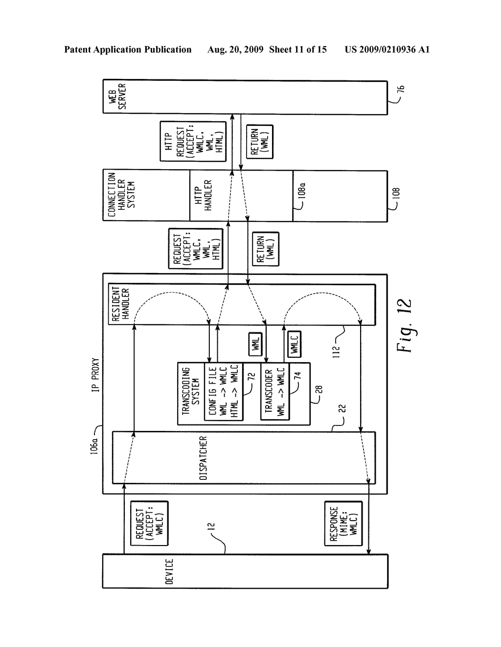 SYSTEM AND METHOD FOR PROVIDING REMOTE DATA ACCESS FOR A MOBILE COMMUNICATION DEVICE - diagram, schematic, and image 12