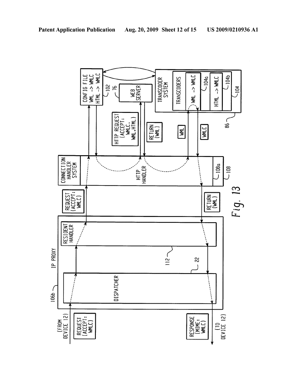 SYSTEM AND METHOD FOR PROVIDING REMOTE DATA ACCESS FOR A MOBILE COMMUNICATION DEVICE - diagram, schematic, and image 13