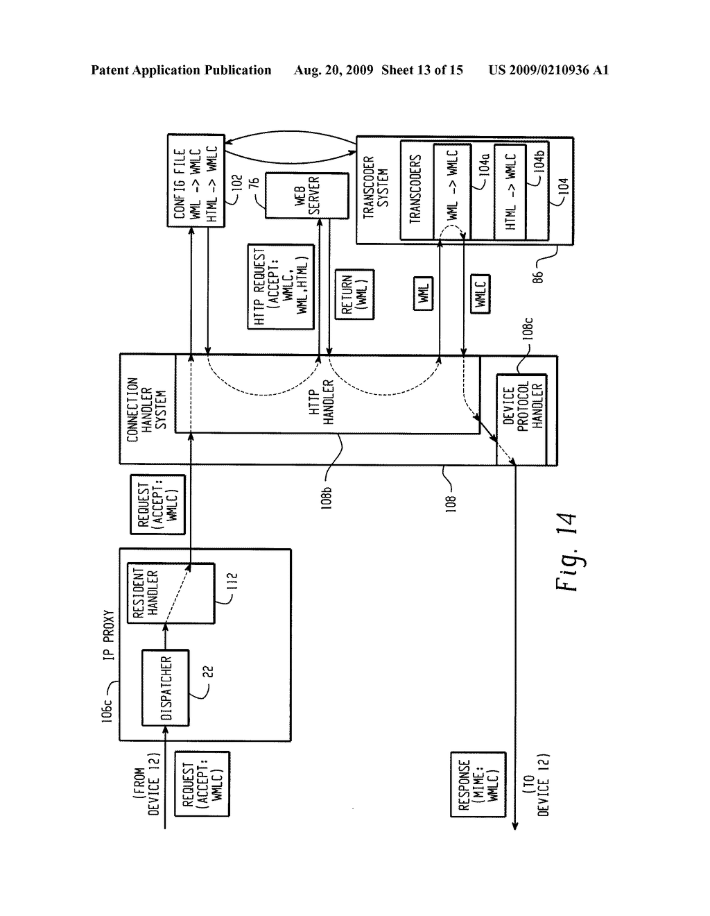 SYSTEM AND METHOD FOR PROVIDING REMOTE DATA ACCESS FOR A MOBILE COMMUNICATION DEVICE - diagram, schematic, and image 14