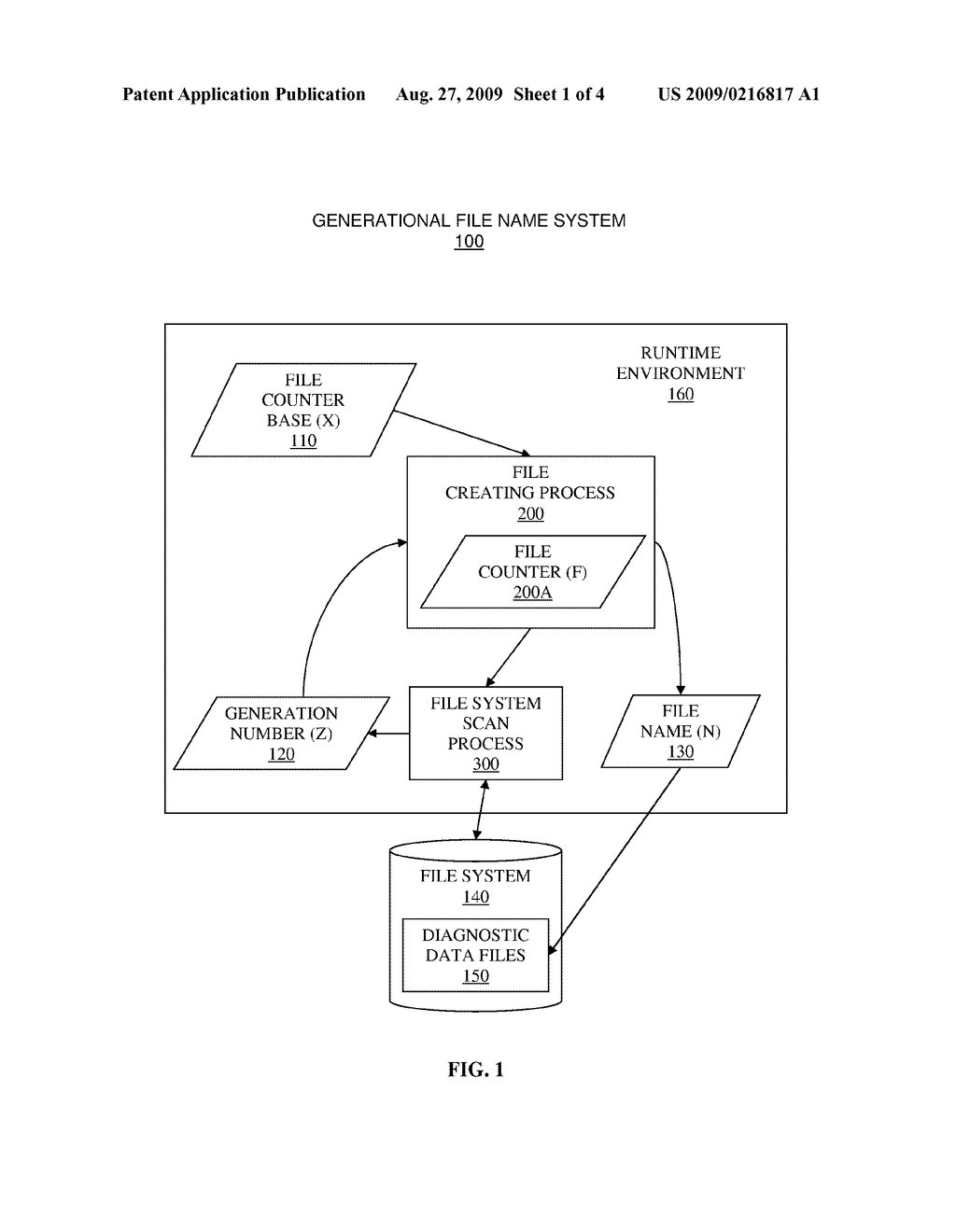 SYSTEM AND METHOD FOR UTILIZING GENERATIONAL FILE NAMES FOR DIAGNOSTIC DATA FILES - diagram, schematic, and image 02