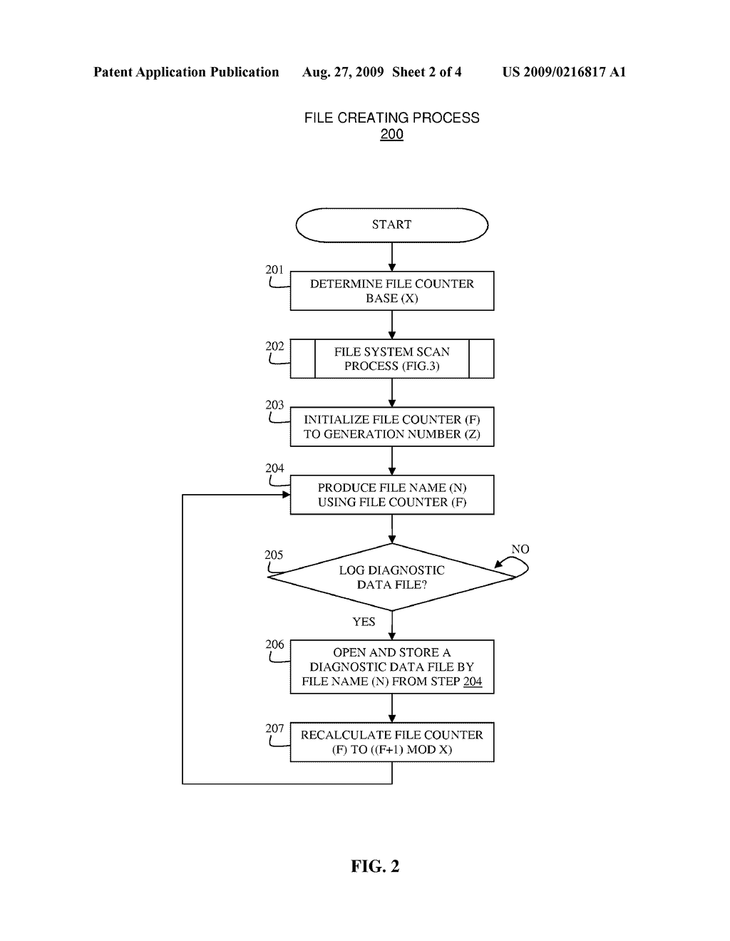 SYSTEM AND METHOD FOR UTILIZING GENERATIONAL FILE NAMES FOR DIAGNOSTIC DATA FILES - diagram, schematic, and image 03