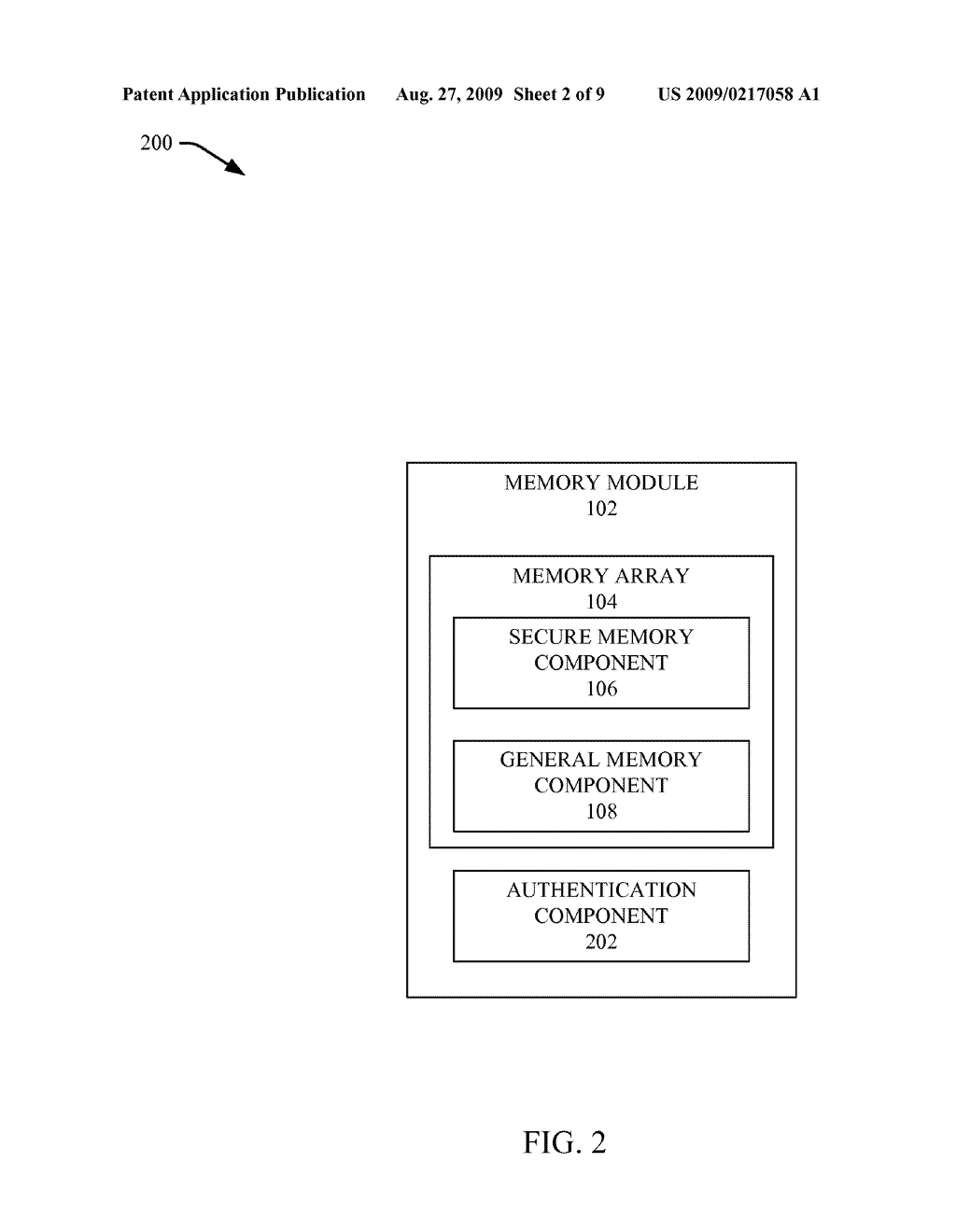 SECURE DATA TRANSFER AFTER AUTHENTICATION BETWEEN MEMORY AND A REQUESTER - diagram, schematic, and image 03