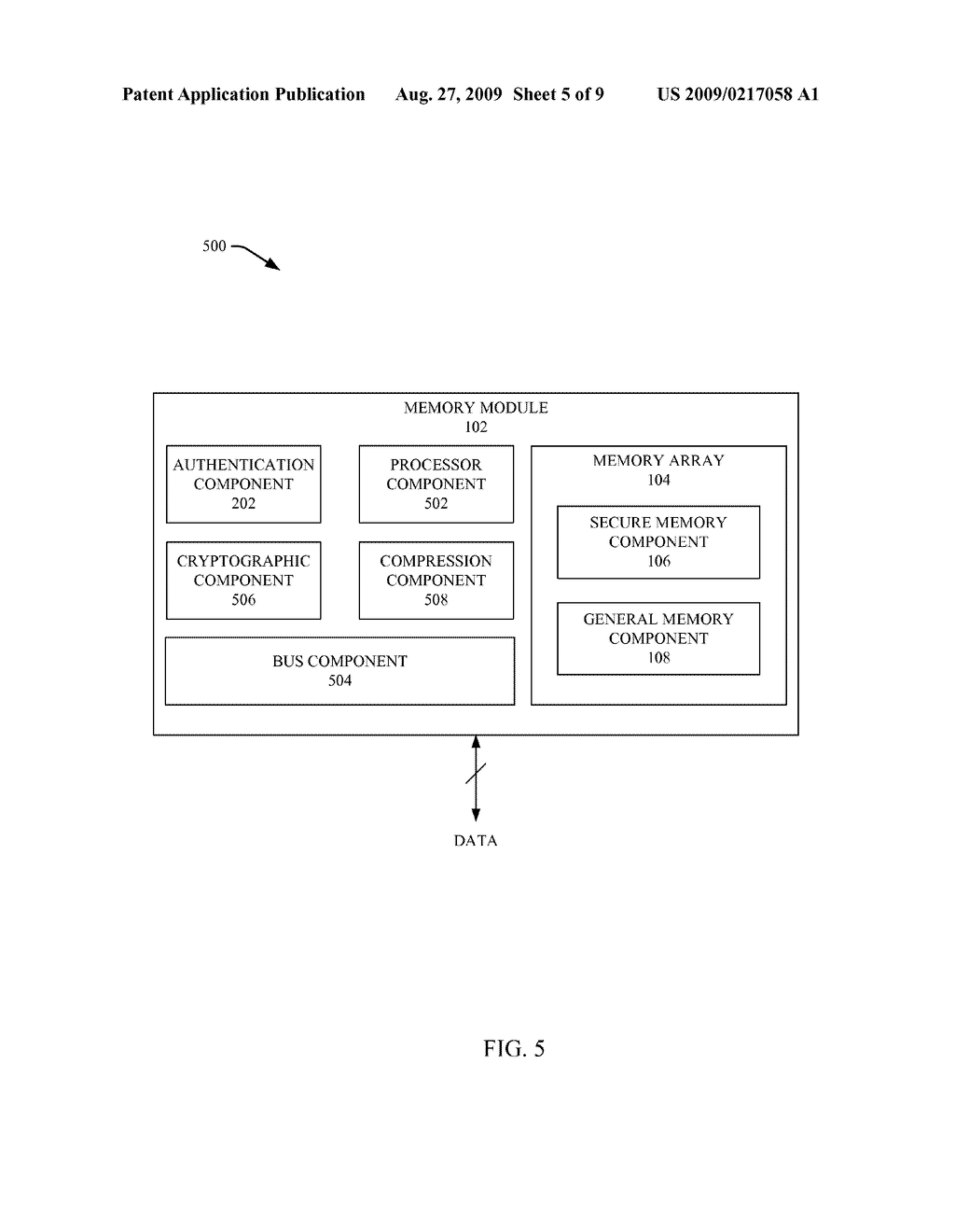 SECURE DATA TRANSFER AFTER AUTHENTICATION BETWEEN MEMORY AND A REQUESTER - diagram, schematic, and image 06