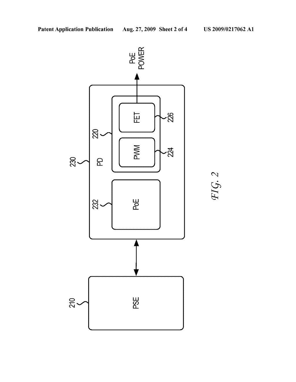 SYSTEM AND METHOD FOR COMMUNICATING INFORMATION RELATING TO POWERED DEVICE POWER INTERRUPTION AND ASSOCIATED POWER SOURCING EQUIPMENT FALLBACK POWER - diagram, schematic, and image 03