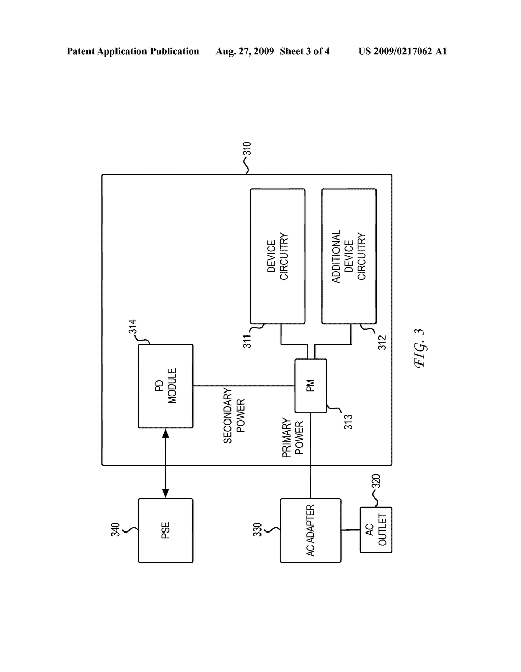 SYSTEM AND METHOD FOR COMMUNICATING INFORMATION RELATING TO POWERED DEVICE POWER INTERRUPTION AND ASSOCIATED POWER SOURCING EQUIPMENT FALLBACK POWER - diagram, schematic, and image 04