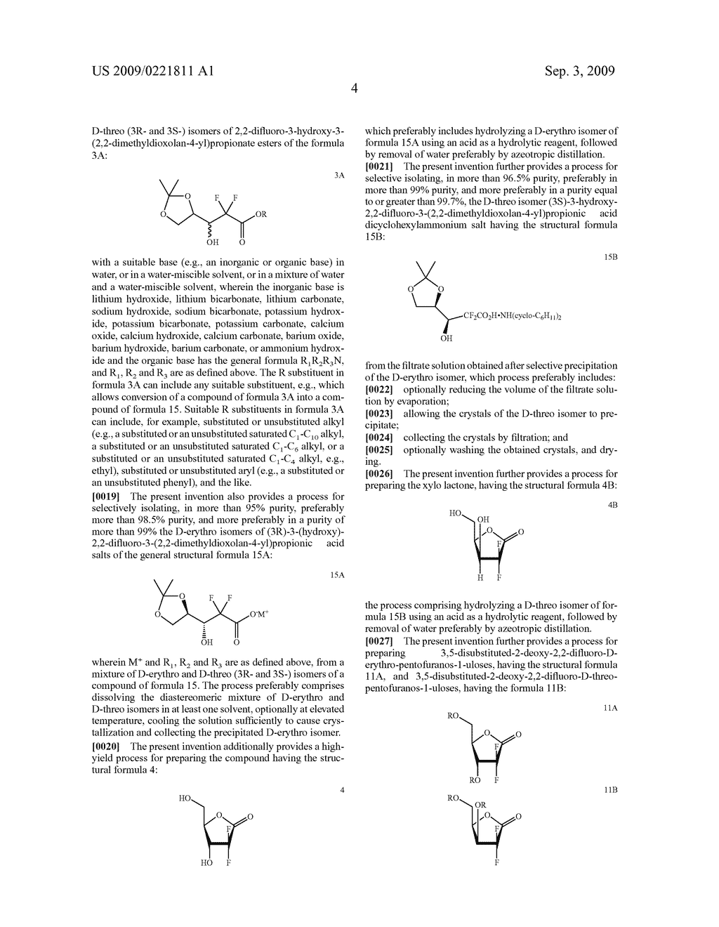 PROCESS FOR PREPARING GEMCITABINE AND ASSOCIATED INTERMEDIATES - diagram, schematic, and image 05