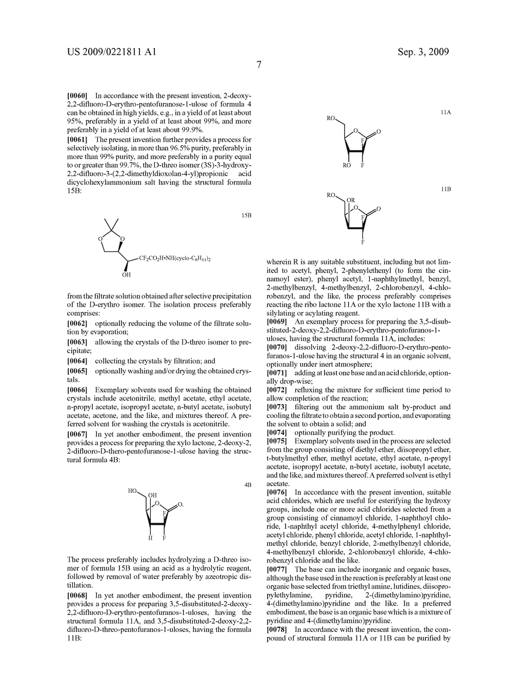 PROCESS FOR PREPARING GEMCITABINE AND ASSOCIATED INTERMEDIATES - diagram, schematic, and image 08