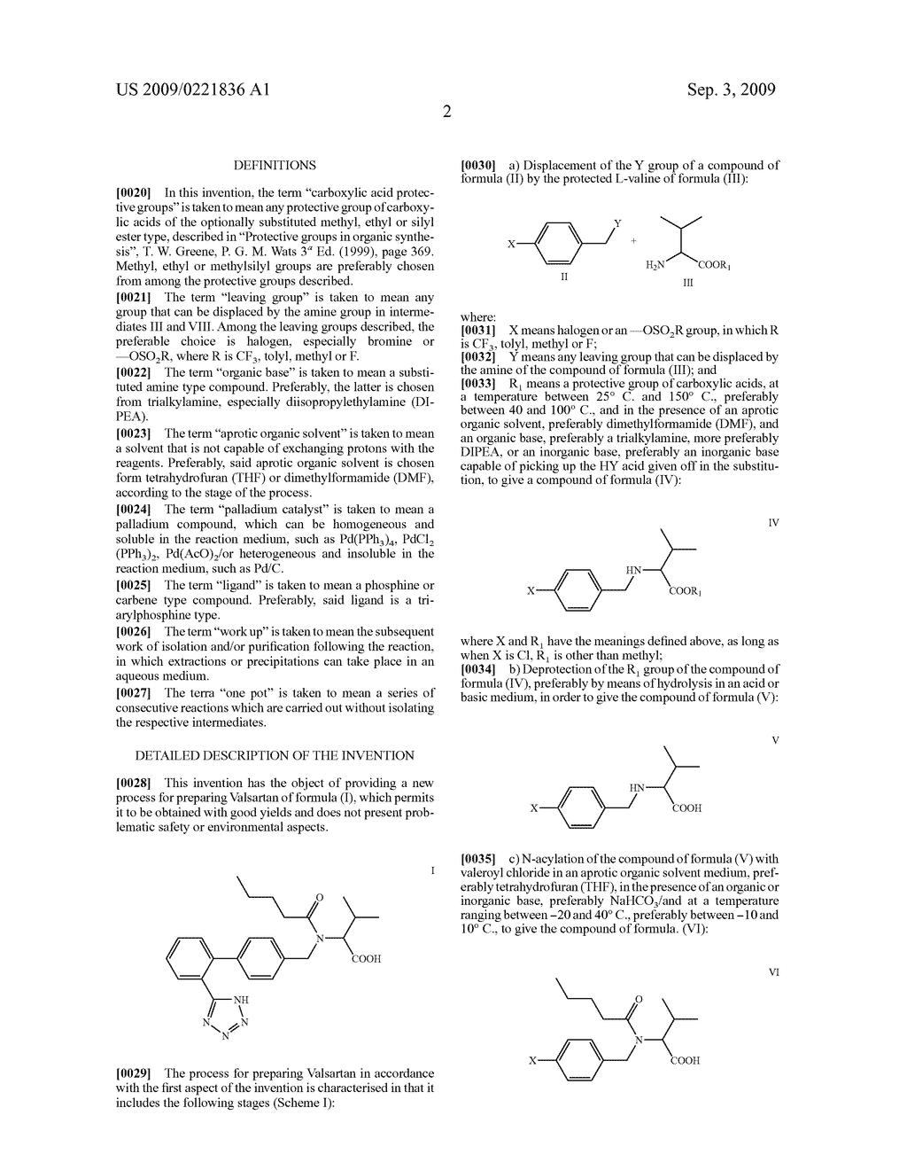 PROCESS FOR THE PREPARATION OF VALSARTAN AND PRECURSORS THEREOF - diagram, schematic, and image 03