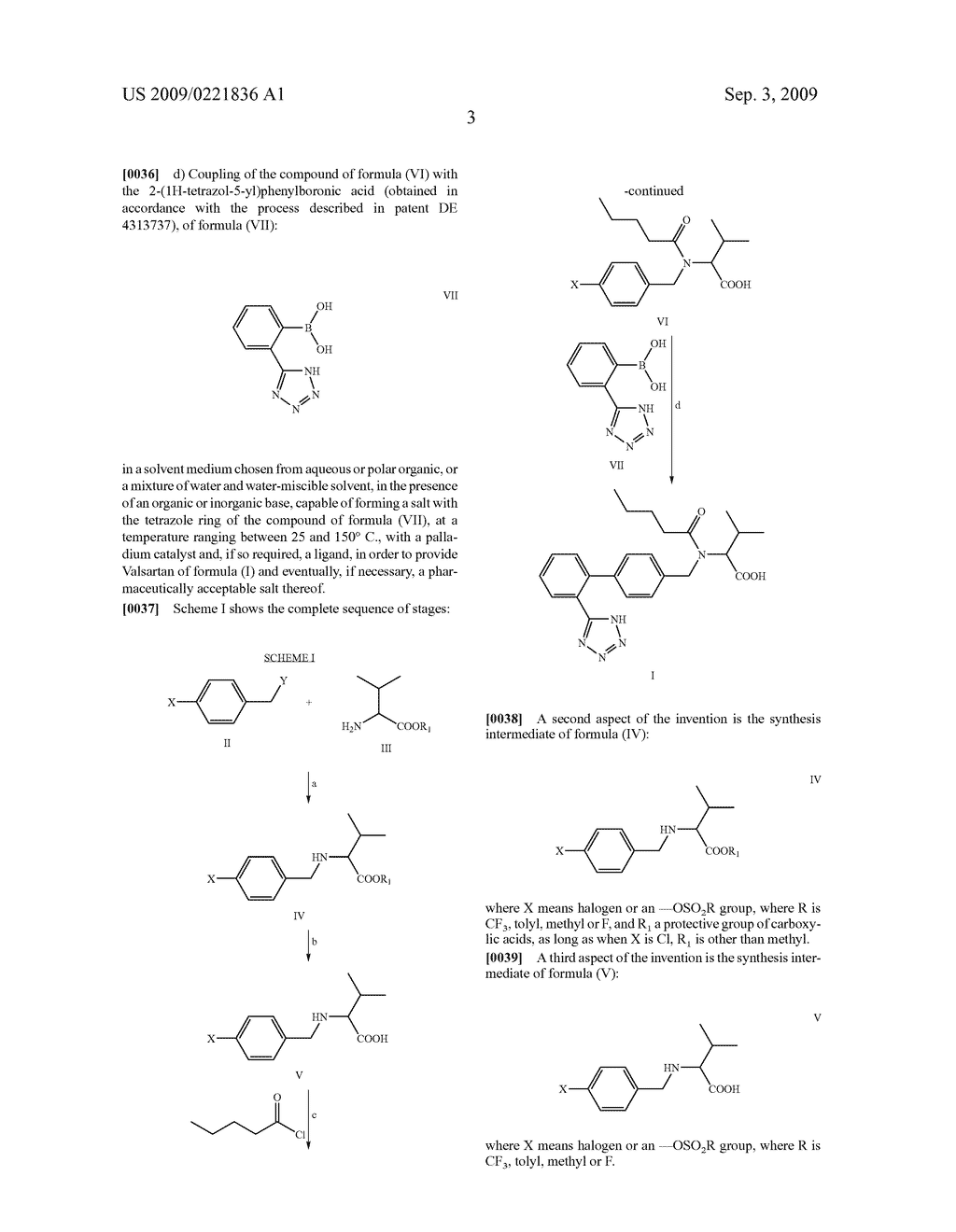 PROCESS FOR THE PREPARATION OF VALSARTAN AND PRECURSORS THEREOF - diagram, schematic, and image 04