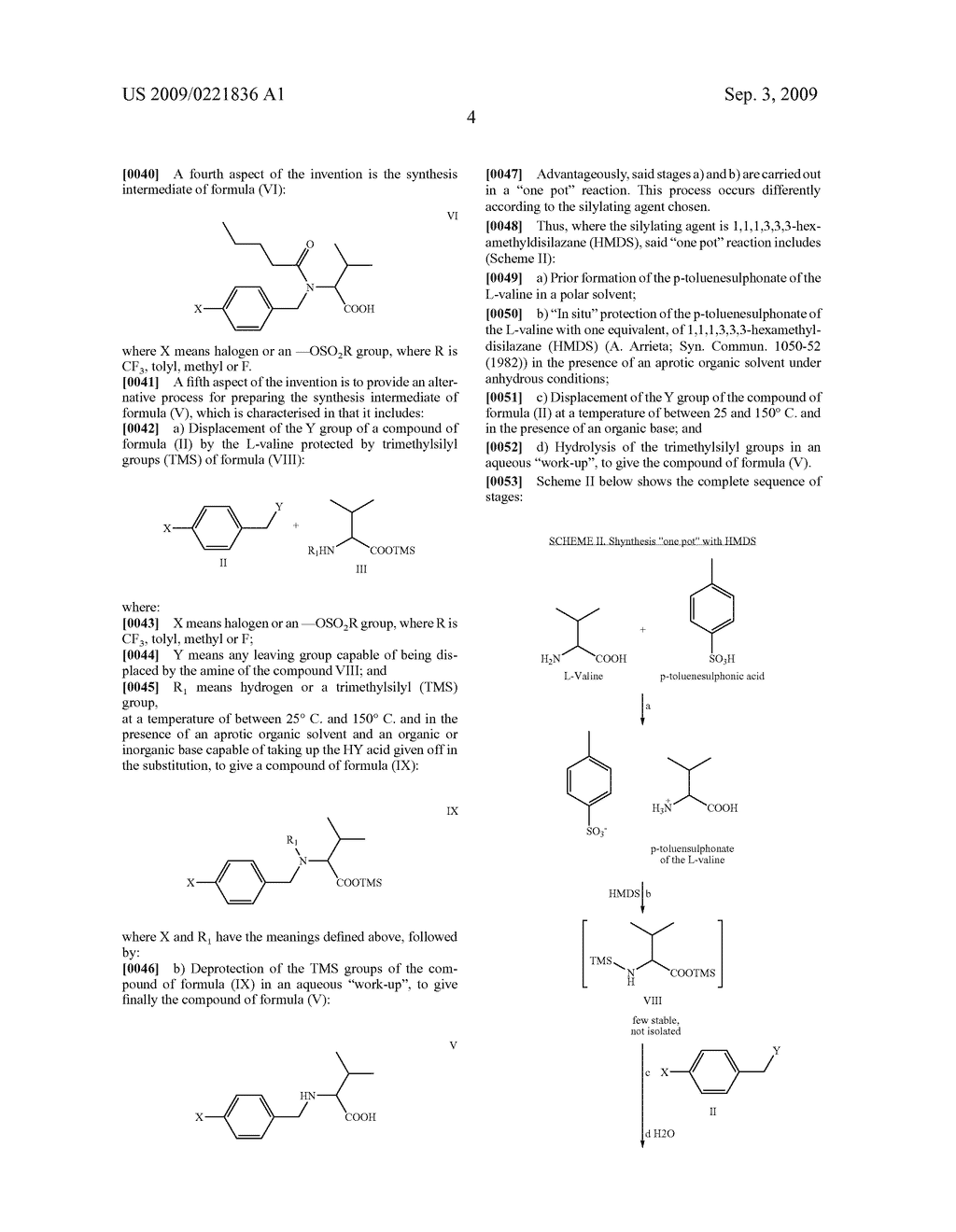 PROCESS FOR THE PREPARATION OF VALSARTAN AND PRECURSORS THEREOF - diagram, schematic, and image 05