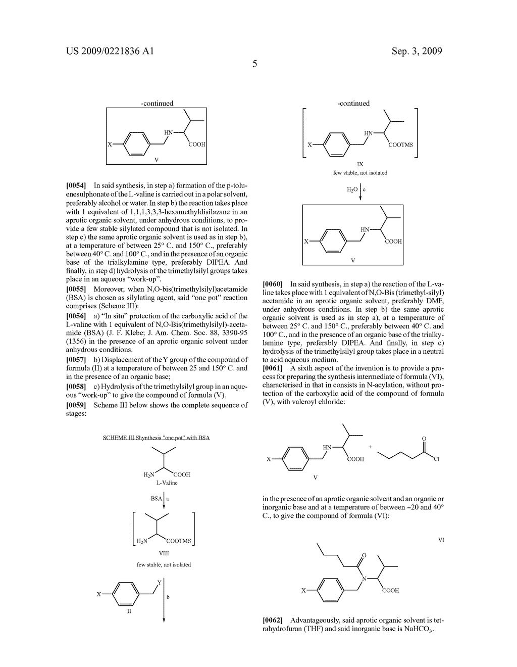 PROCESS FOR THE PREPARATION OF VALSARTAN AND PRECURSORS THEREOF - diagram, schematic, and image 06