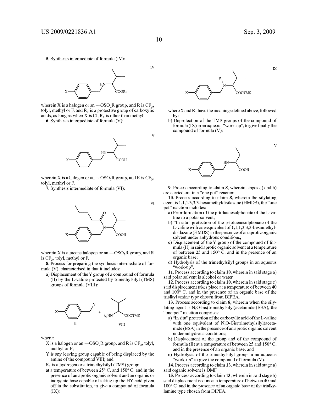 PROCESS FOR THE PREPARATION OF VALSARTAN AND PRECURSORS THEREOF - diagram, schematic, and image 11