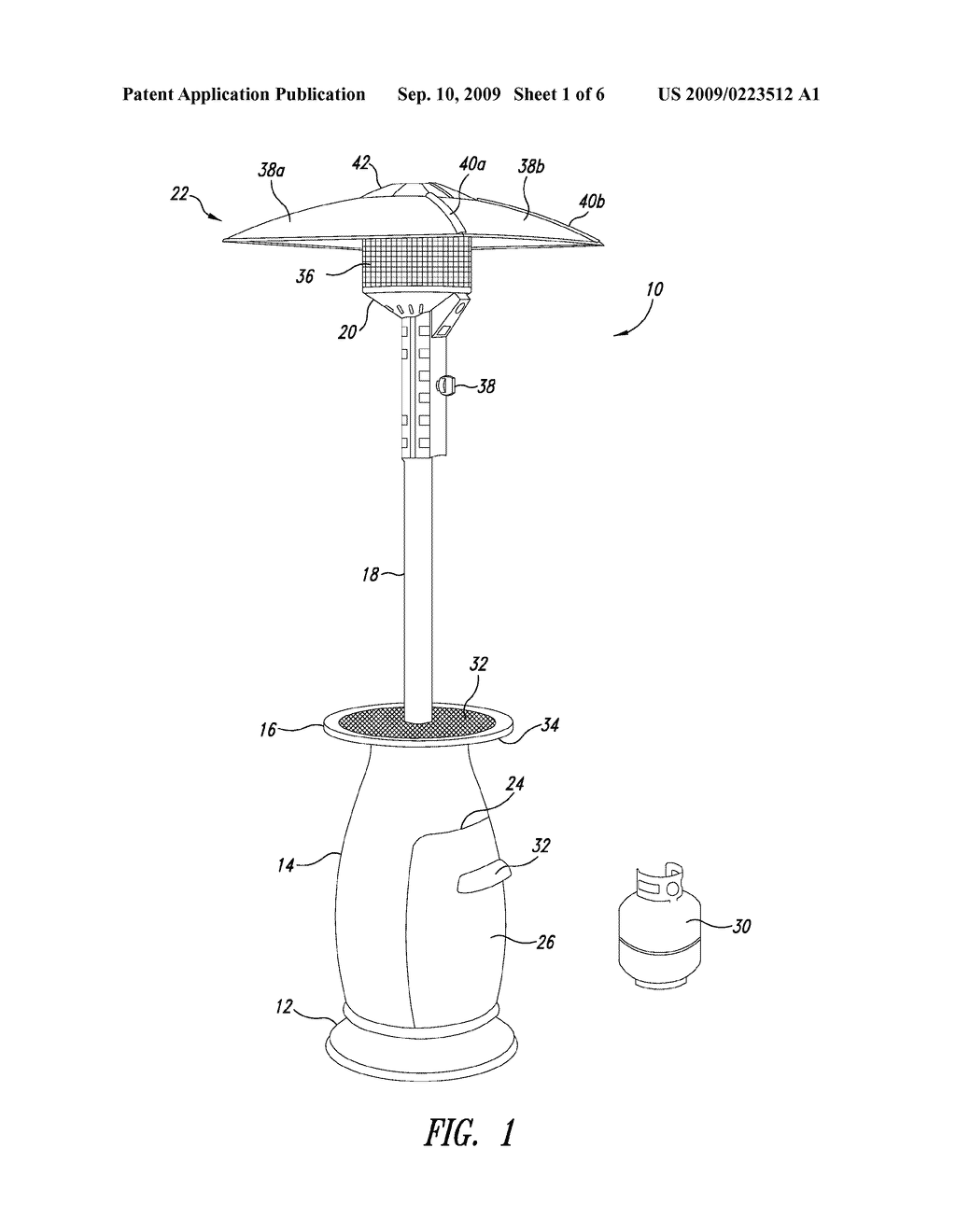 OUTDOOR PATIO HEATER   Diagram, Schematic, And Image 02