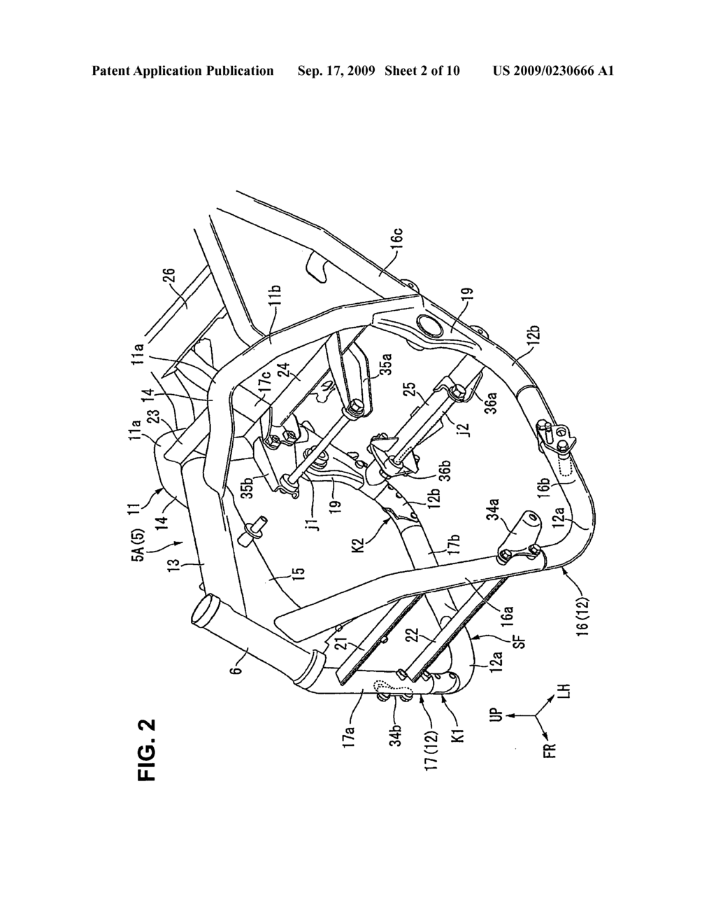 Vehicle Frame Joint For A Saddle Type And Diagram Incorporating Same Schematic Image 03