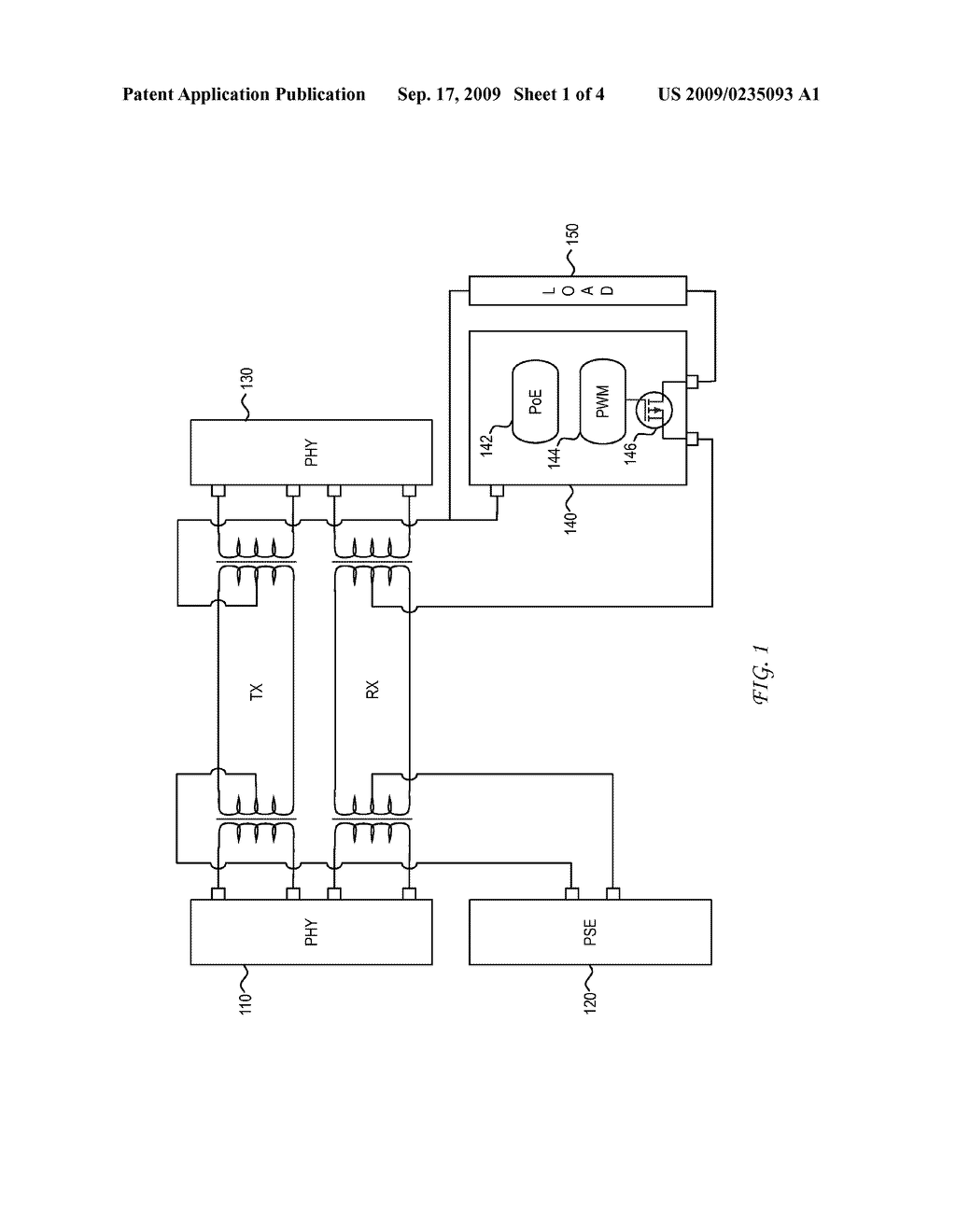 SYSTEM AND METHOD FOR POWER SOURCING EQUIPMENT DETECTION OF A POWERED DEVICE POWER FAILURE FOR POWER BACKUP - diagram, schematic, and image 02
