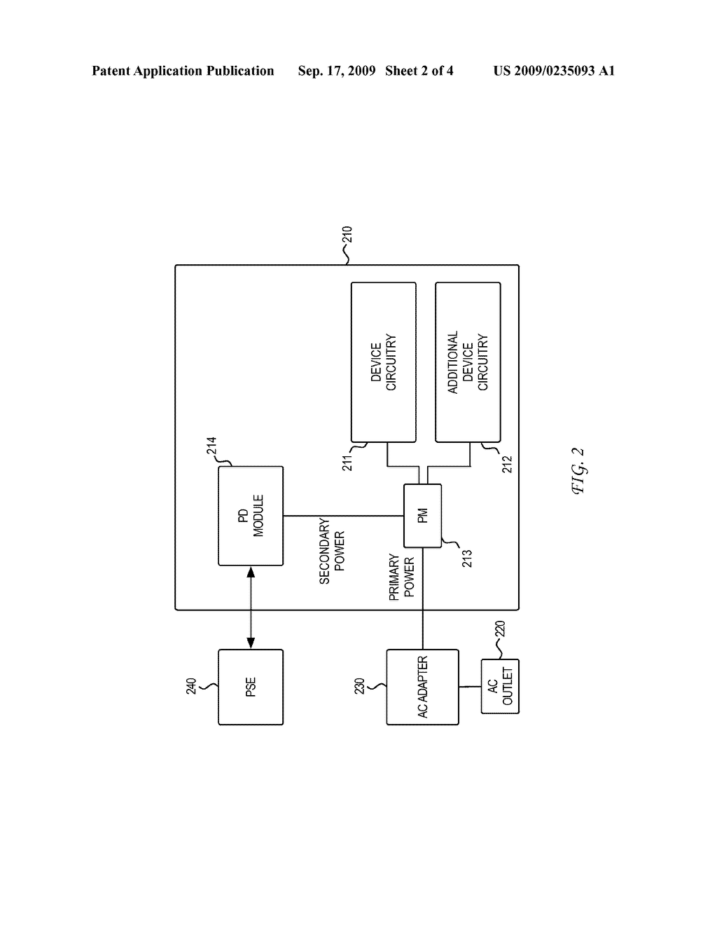 SYSTEM AND METHOD FOR POWER SOURCING EQUIPMENT DETECTION OF A POWERED DEVICE POWER FAILURE FOR POWER BACKUP - diagram, schematic, and image 03