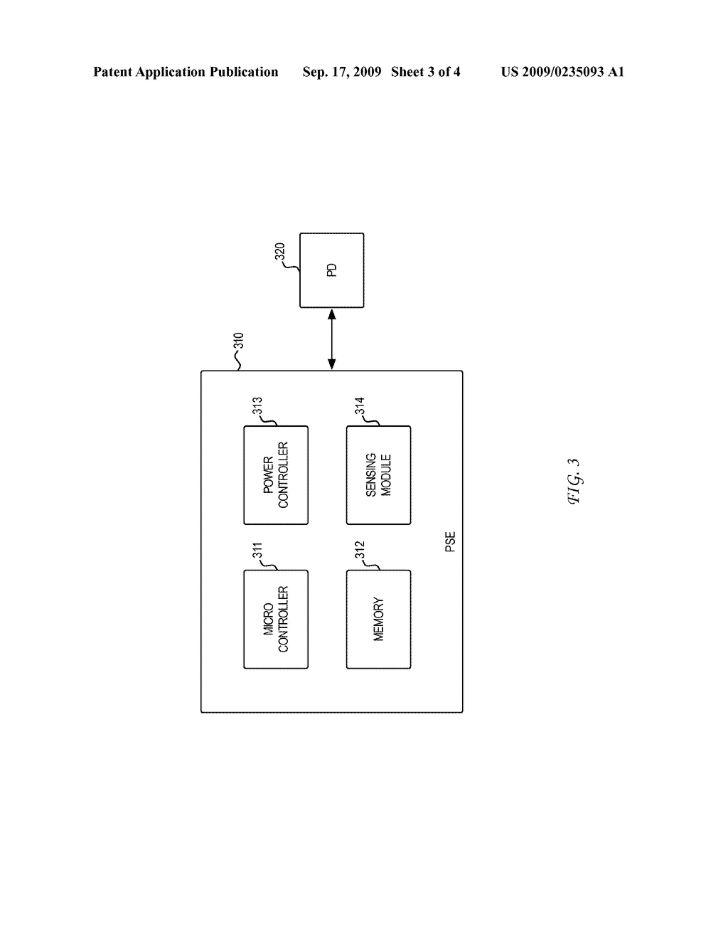 SYSTEM AND METHOD FOR POWER SOURCING EQUIPMENT DETECTION OF A POWERED DEVICE POWER FAILURE FOR POWER BACKUP - diagram, schematic, and image 04