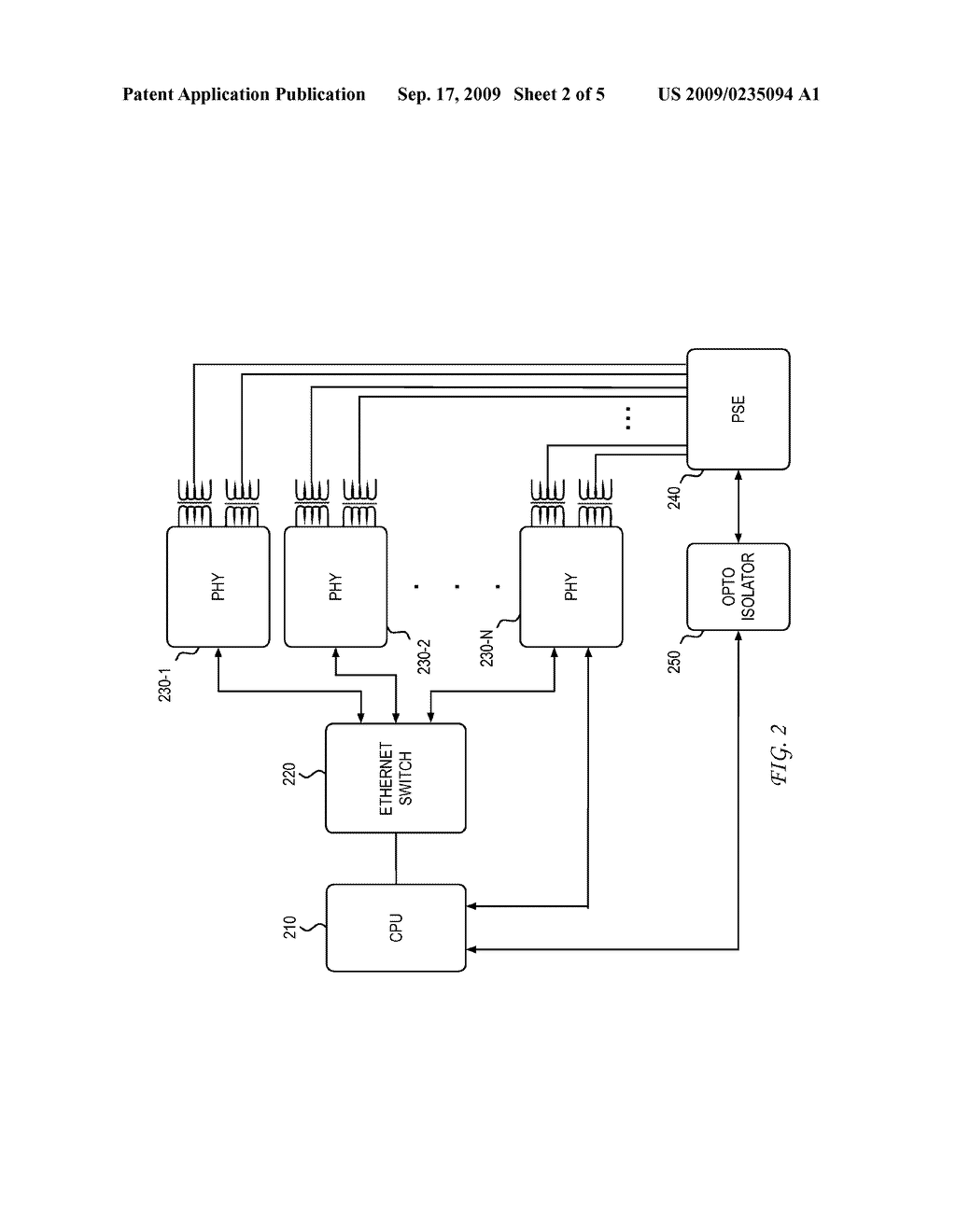 SYSTEM AND METHOD FOR USING AN ETHERNET PHYSICAL LAYER DEVICE TO IDENTIFY CABLING TOPOLOGIES - diagram, schematic, and image 03