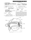 HARD HAT WITH ATTACHED SAFETY GLASSES diagram and image