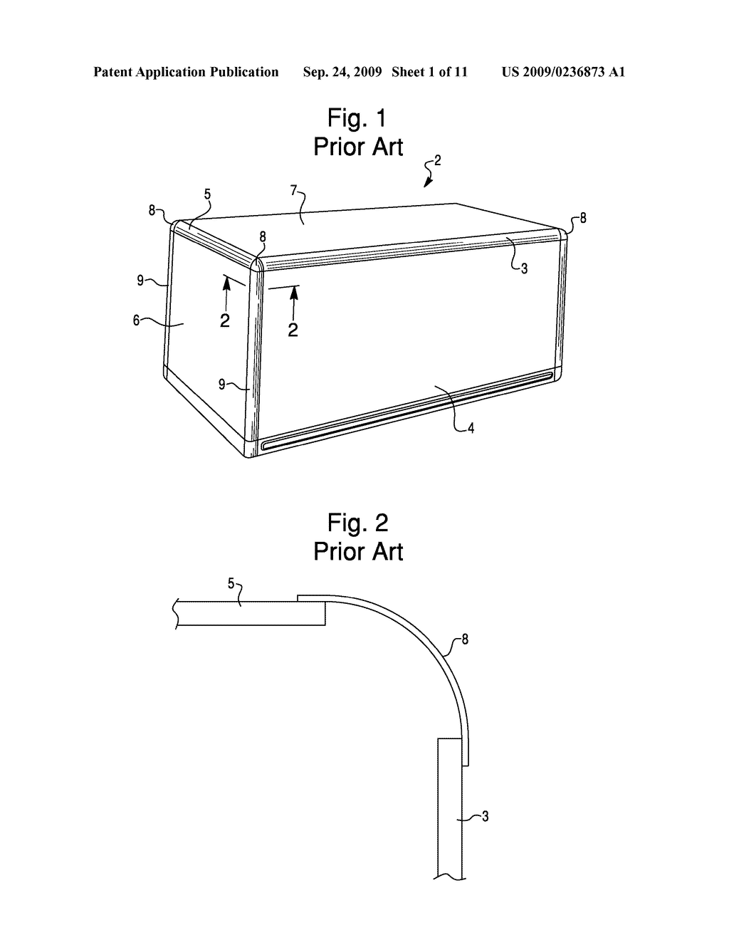 corner cap assembly for van-style truck body - diagram, schematic, and  image 02