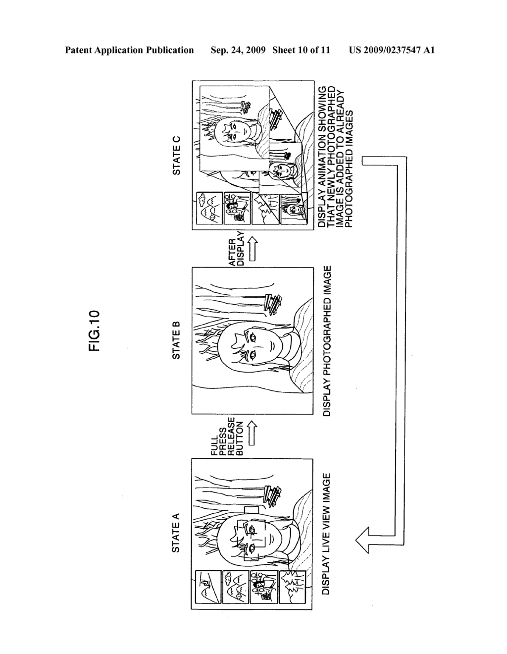 Imaging device and photographed image display control method - diagram, schematic, and image 11