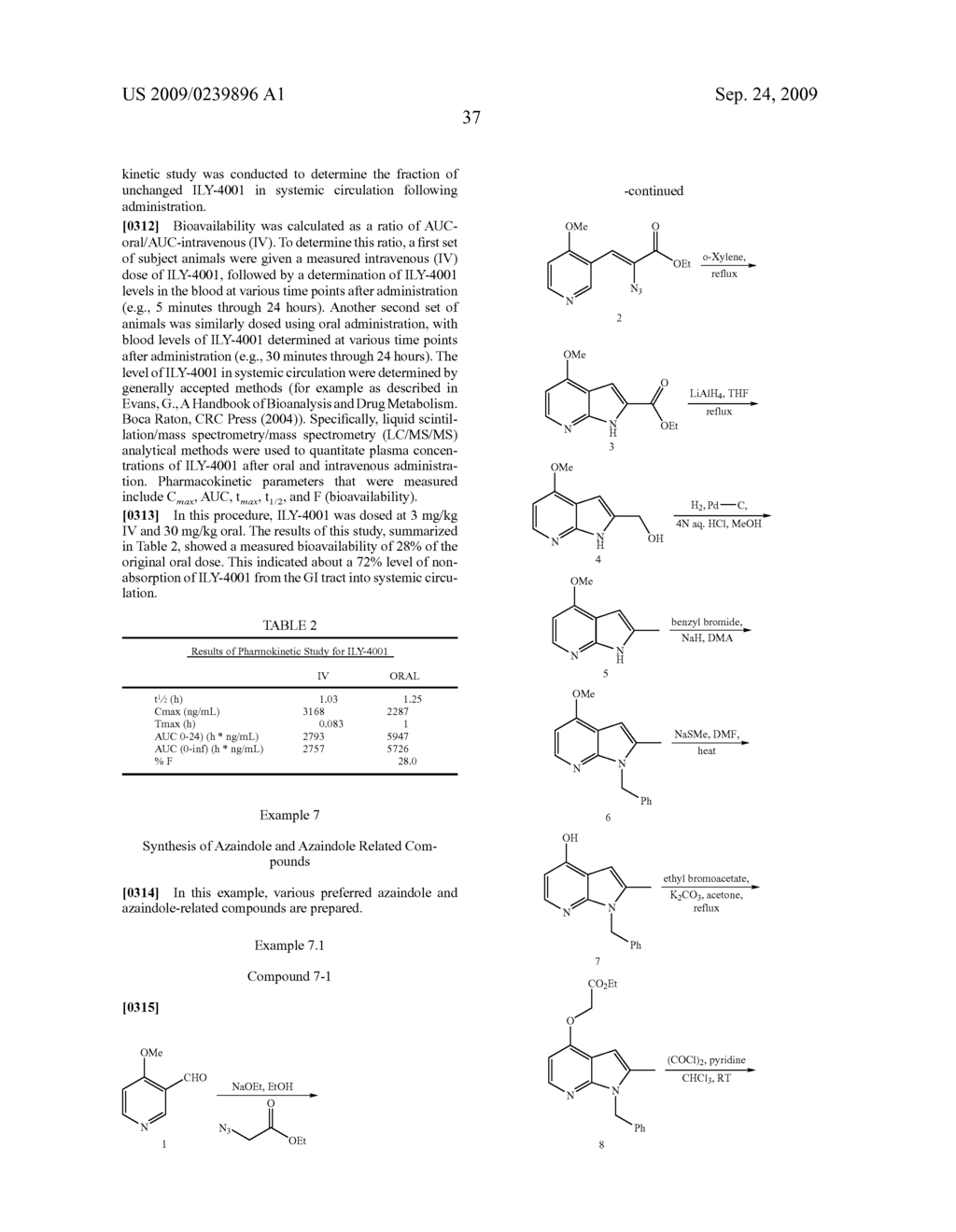 AZAINDOLE COMPOUNDS AND USE THEREOF AS PHOSPHOLIPASE-A2 INHIBITORS - diagram, schematic, and image 47