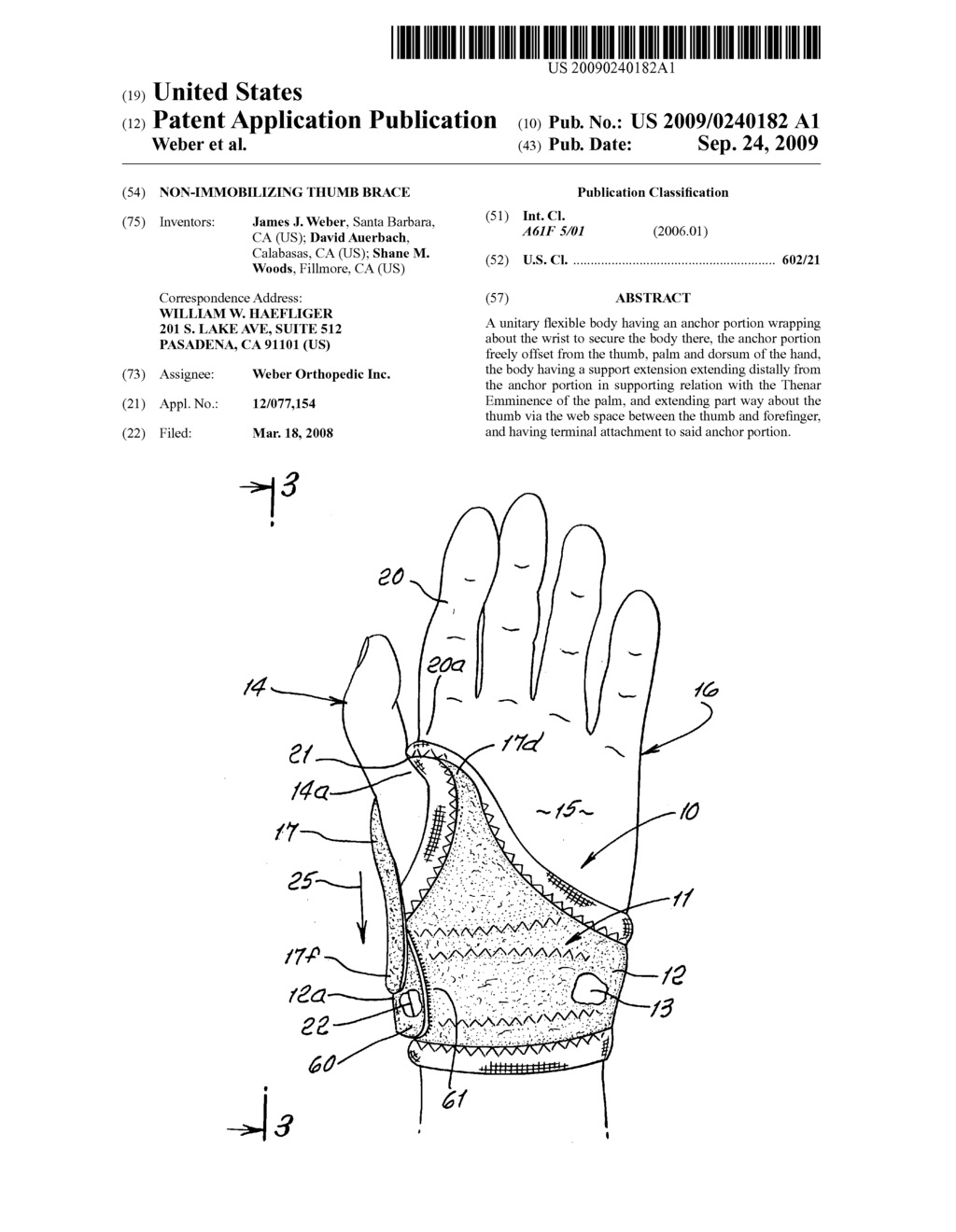 Non-Immobilizing thumb brace - diagram, schematic, and image 01
