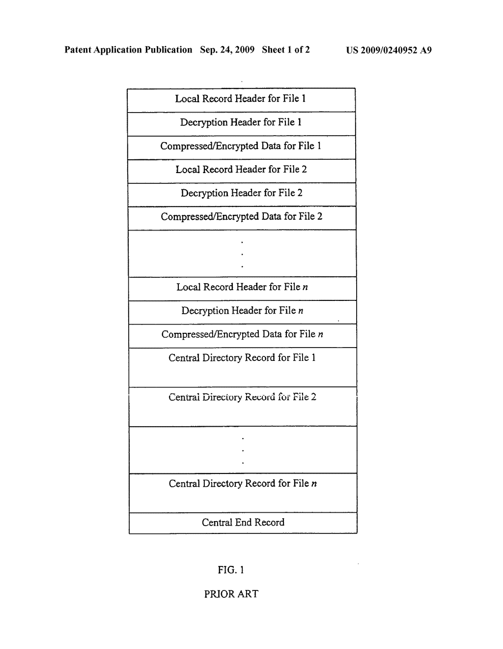 Method and system for decryption of file characteristics of .ZIP files - diagram, schematic, and image 02