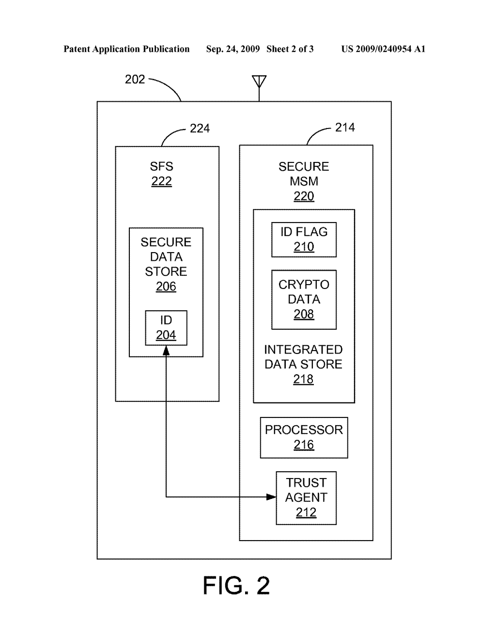 METHOD FOR SECURELY STORING A PROGRAMMABLE IDENTIFIER IN A COMMUNICATION STATION - diagram, schematic, and image 03