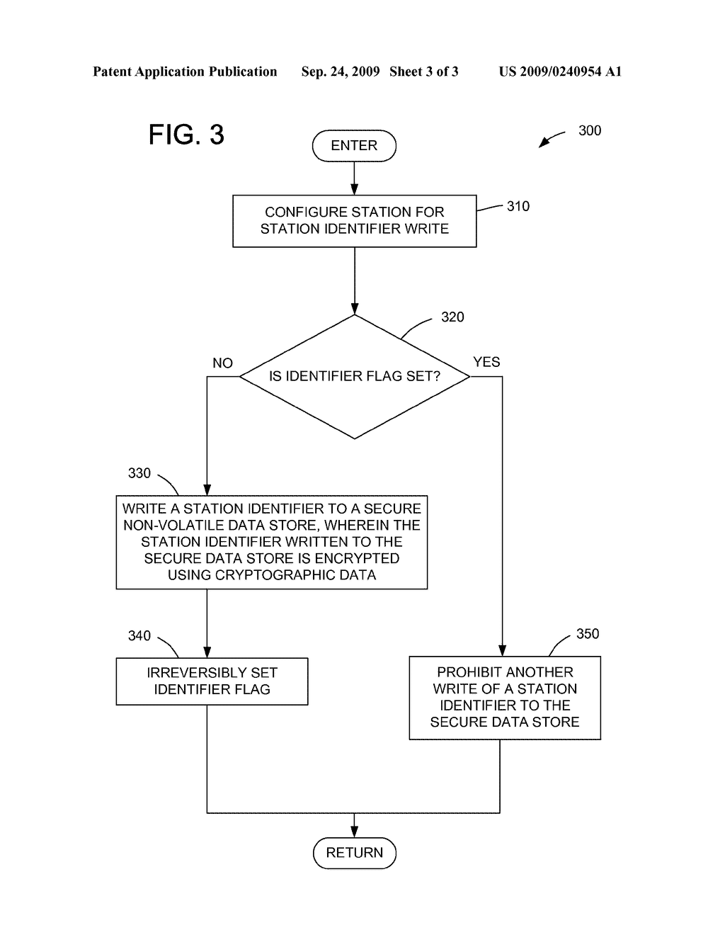 METHOD FOR SECURELY STORING A PROGRAMMABLE IDENTIFIER IN A COMMUNICATION STATION - diagram, schematic, and image 04