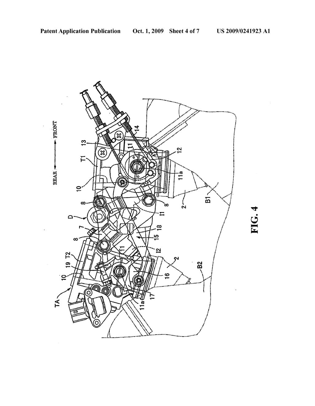 fuel distribution apparatus for a v type engine diagram schematic rh patentsencyclopedia com