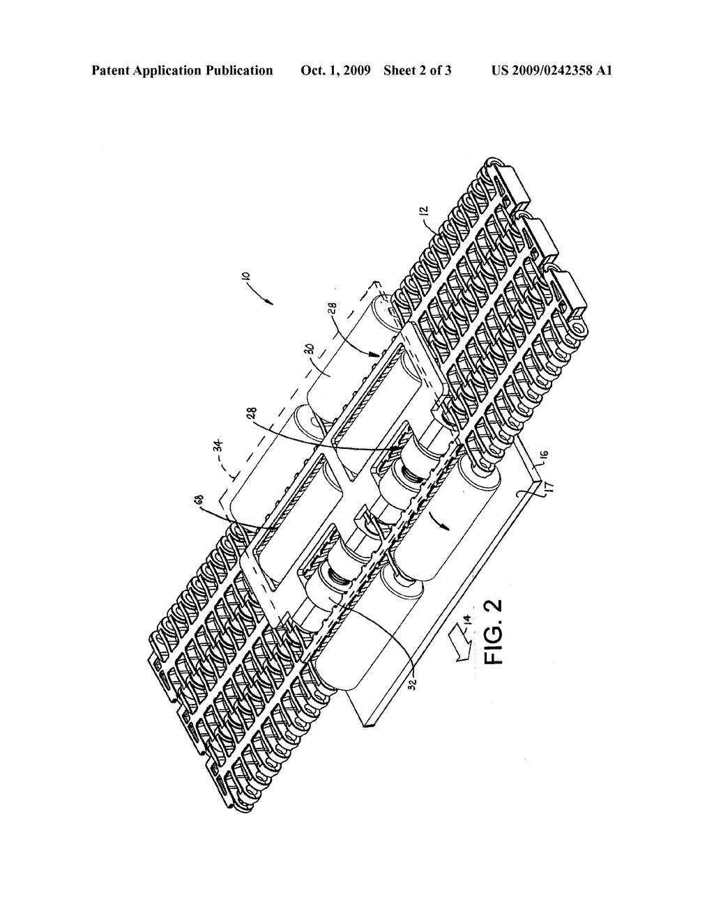CONVEYOR AND BELT WITH CLUTCH-DRIVEN FLIGHTS - diagram, schematic, and image 03