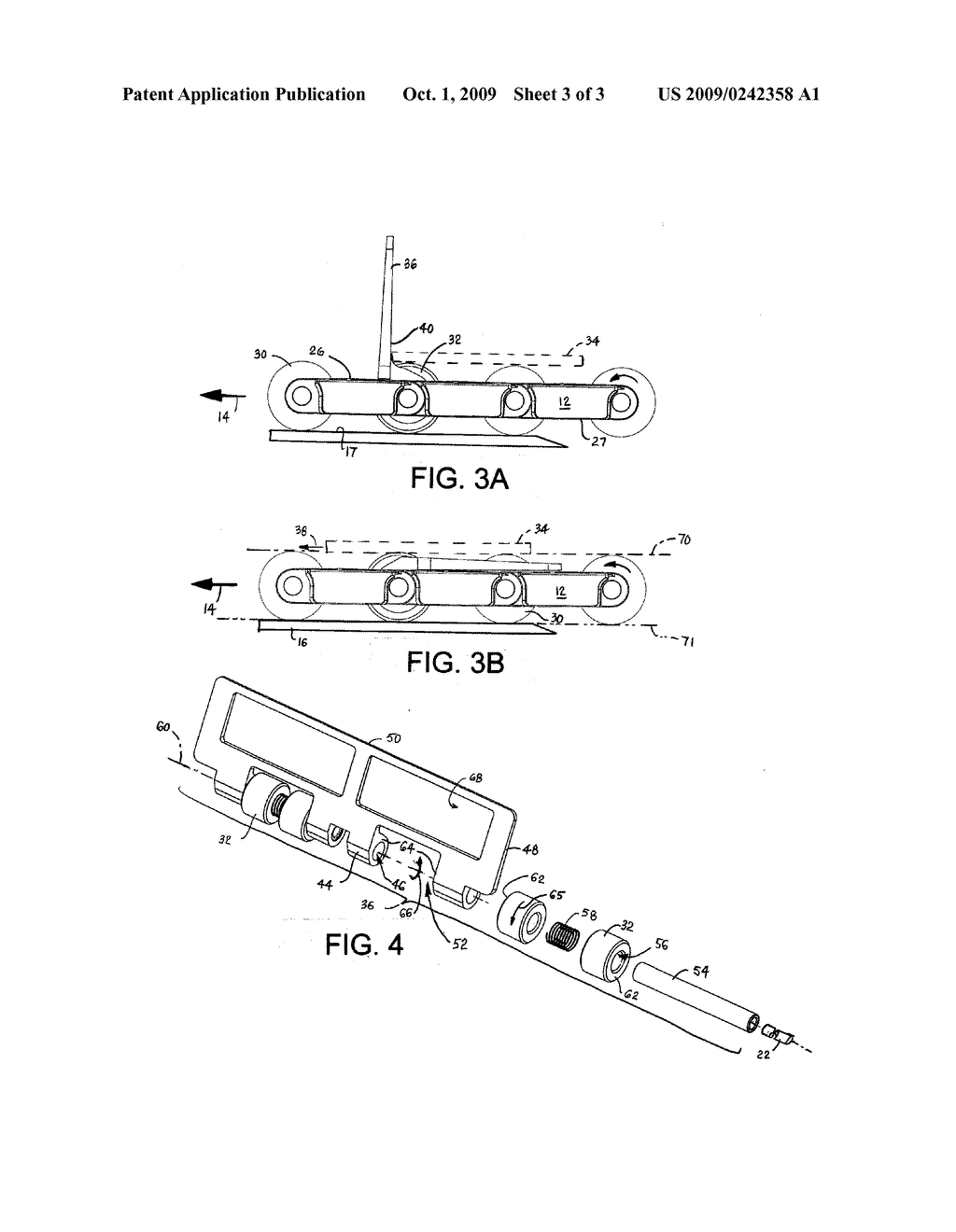 CONVEYOR AND BELT WITH CLUTCH-DRIVEN FLIGHTS - diagram, schematic, and image 04