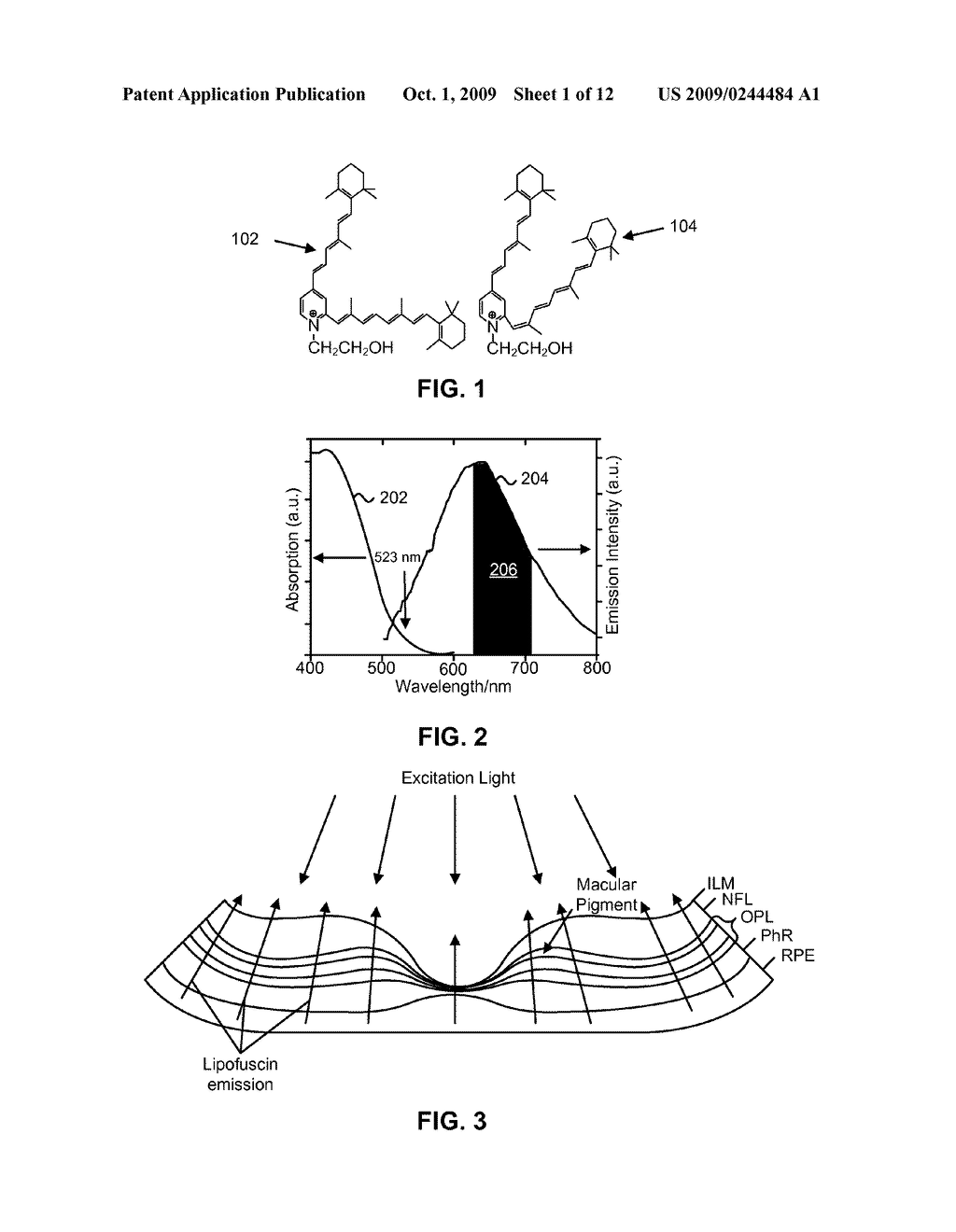 SYSTEMS AND METHODS FOR OPTICAL DETECTION OF LIPOFUSCIN CONCENTRATIONS IN A SUBJECT'S EYE - diagram, schematic, and image 02