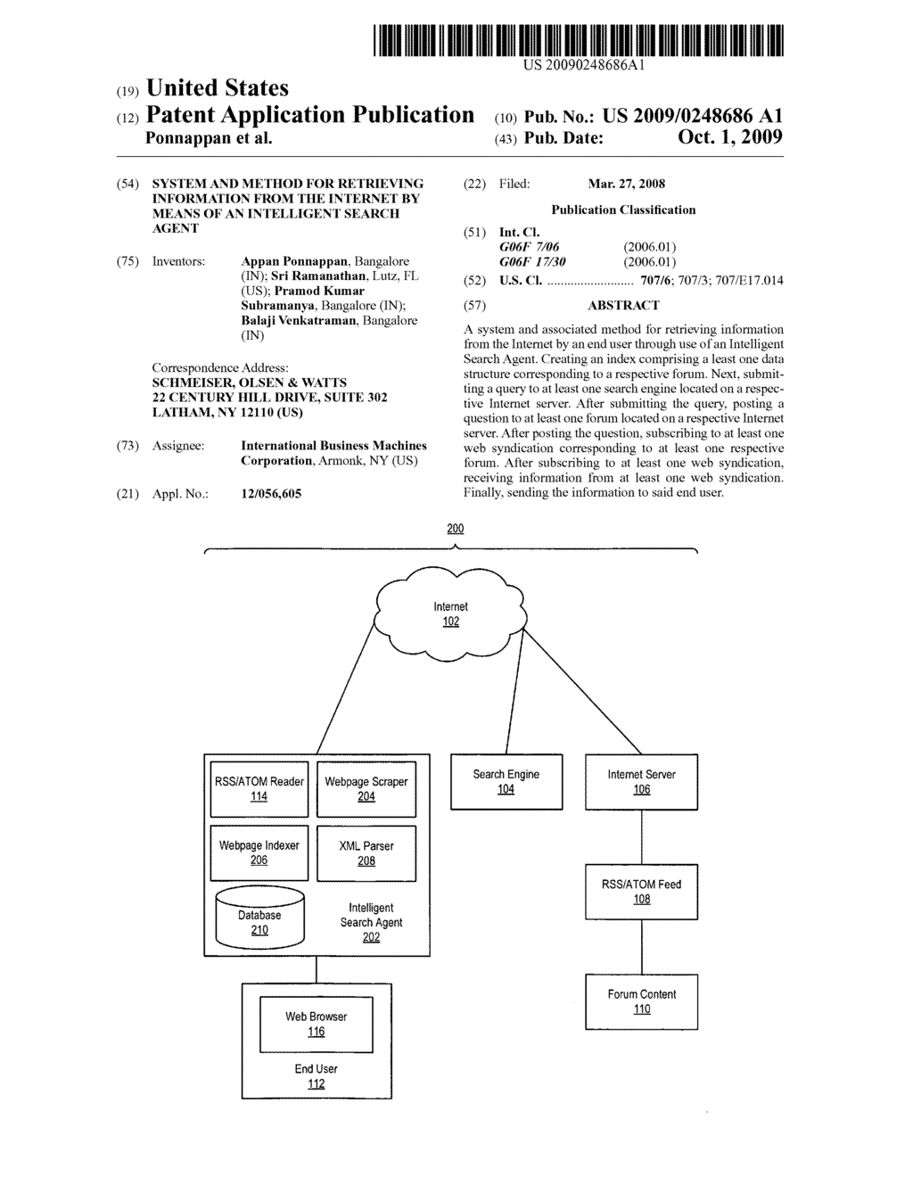 SYSTEM AND METHOD FOR RETRIEVING INFORMATION FROM THE INTERNET BY MEANS OF AN INTELLIGENT SEARCH AGENT - diagram, schematic, and image 01