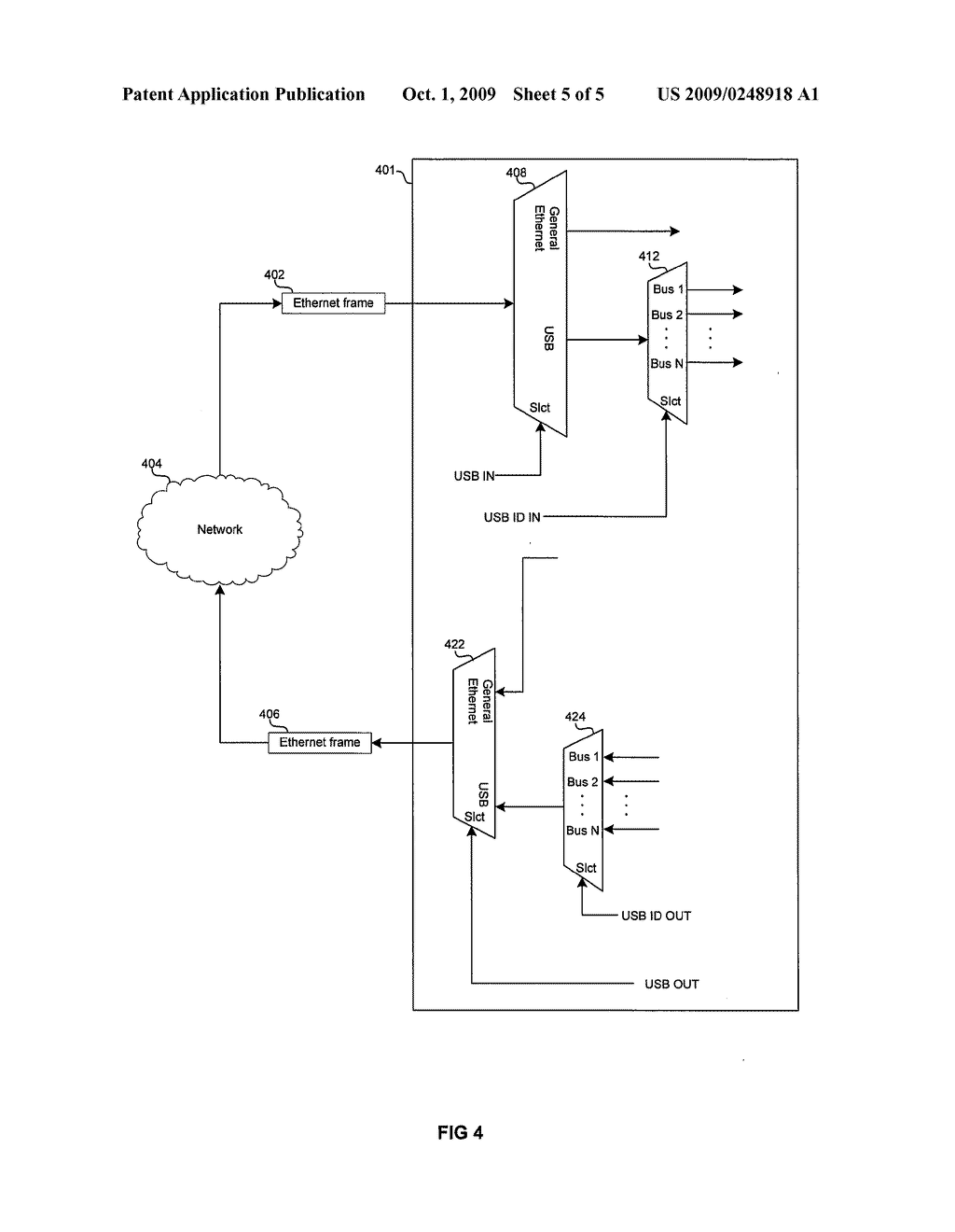 METHOD AND SYSTEM FOR A USB ETHERTYPE TO TUNNEL USB OVER ETHERNET - diagram, schematic, and image 06
