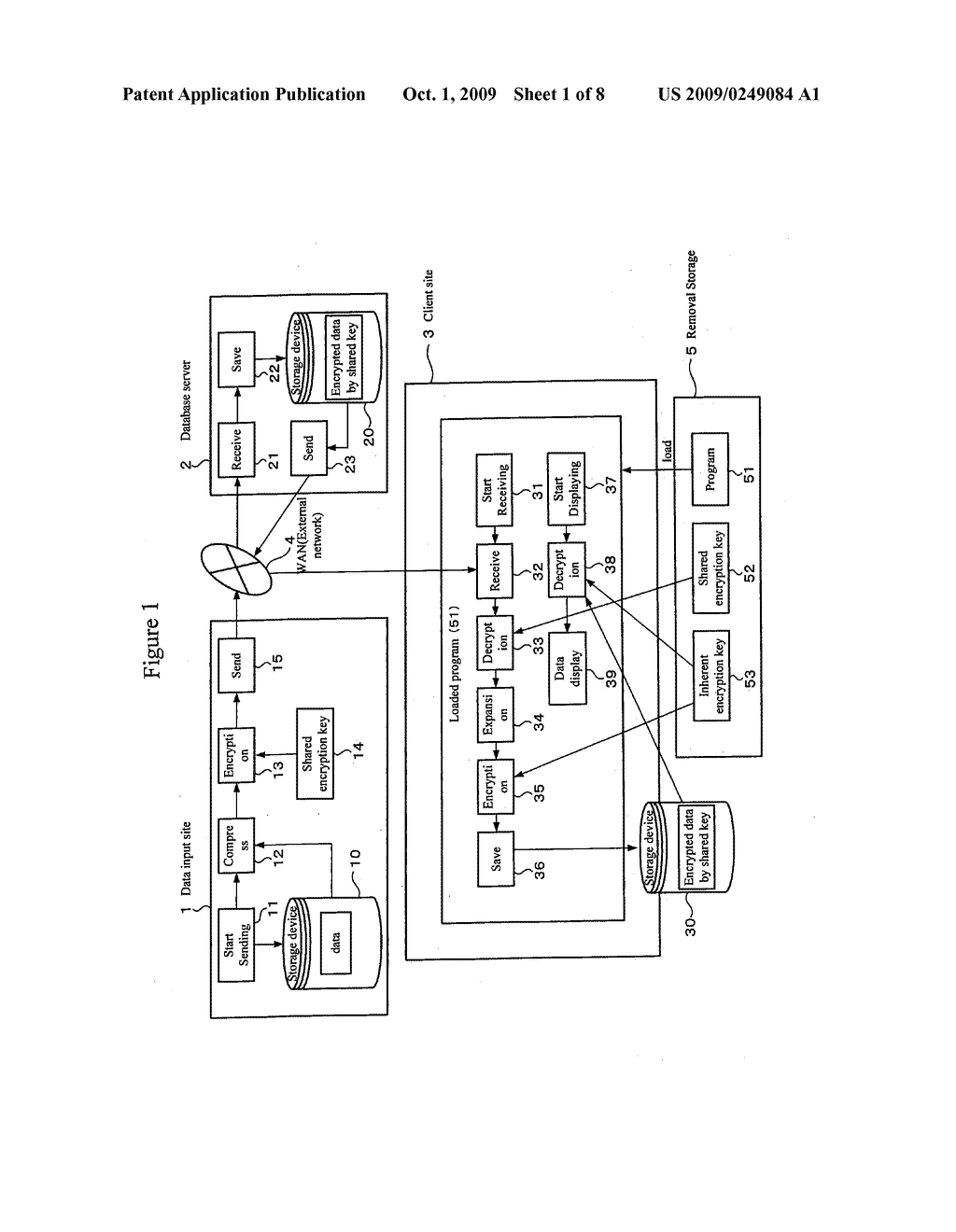 REMOVABLE STORAGE DEVICE AND ASSOCIATED METHODOLOGY OF DATA ENCRYPTION - diagram, schematic, and image 02
