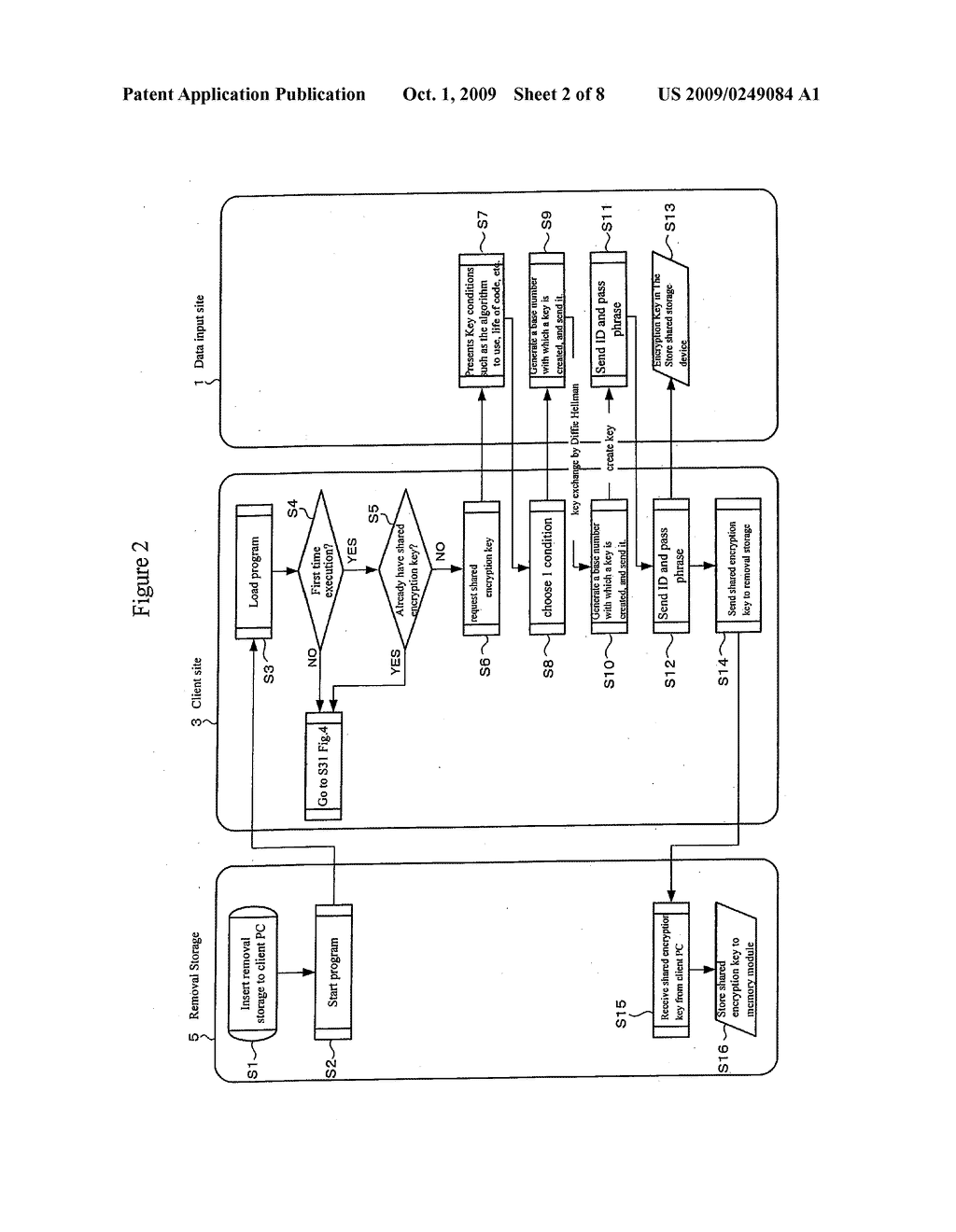 REMOVABLE STORAGE DEVICE AND ASSOCIATED METHODOLOGY OF DATA ENCRYPTION - diagram, schematic, and image 03