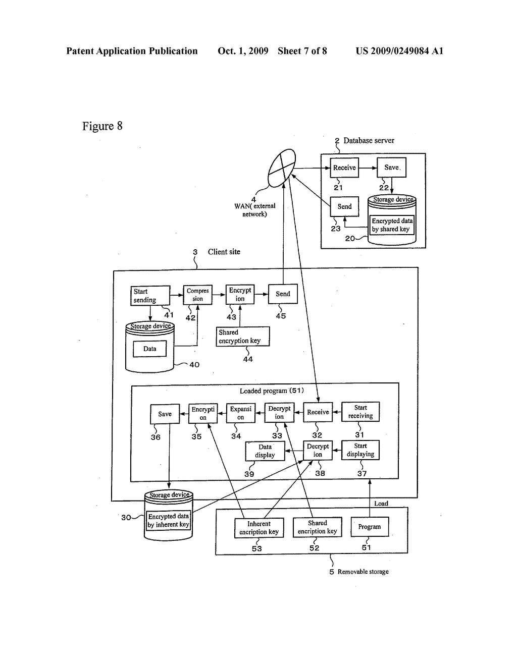 REMOVABLE STORAGE DEVICE AND ASSOCIATED METHODOLOGY OF DATA ENCRYPTION - diagram, schematic, and image 08