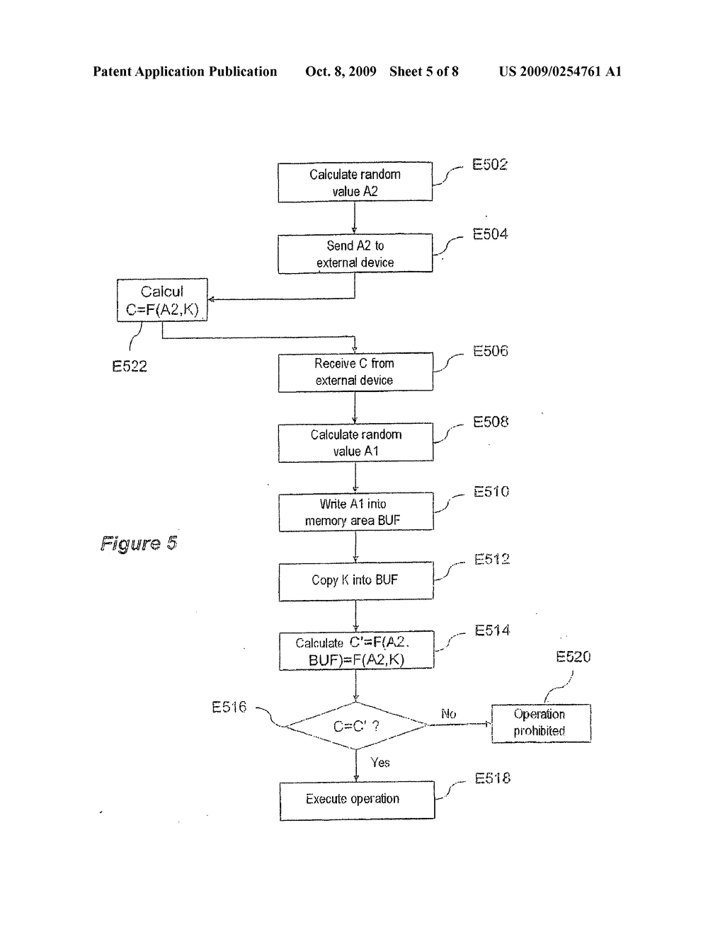 Secure data processing method and associated device - diagram, schematic, and image 06