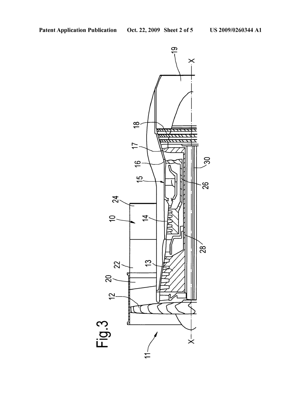Rear Fan Case For A Gas Turbine Engine Diagram Schematic And Image 03