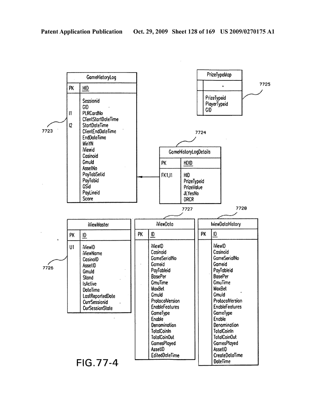 Networked gaming system communication protocols and methods - diagram, schematic, and image 129