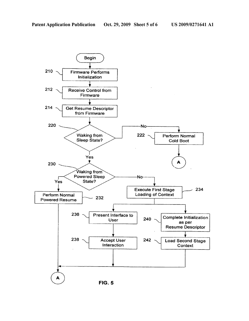 Method and apparatus for quick resumption - diagram, schematic, and image 06